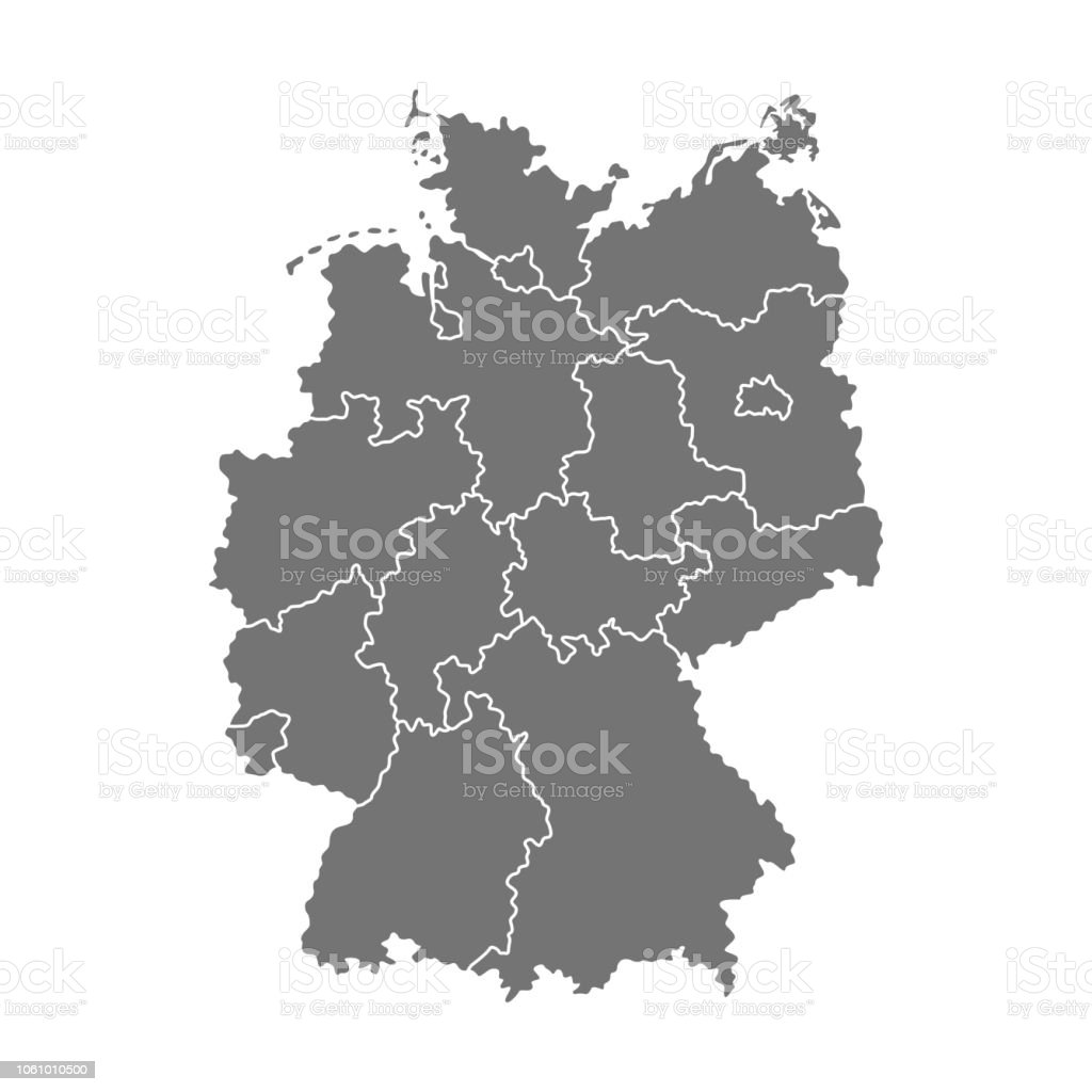 Vector Map Og Germany Stock Illustration Download Image Now Istock