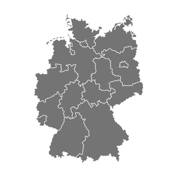 vector mapa og niemcy - niemcy stock illustrations