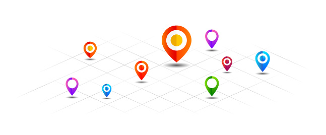 Vector map pin icon isolated
