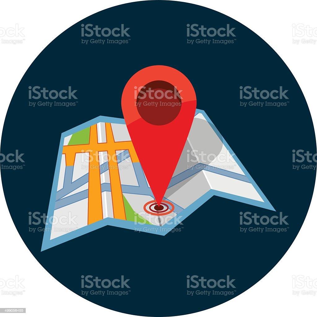 Vector map pin pointer vector art illustration