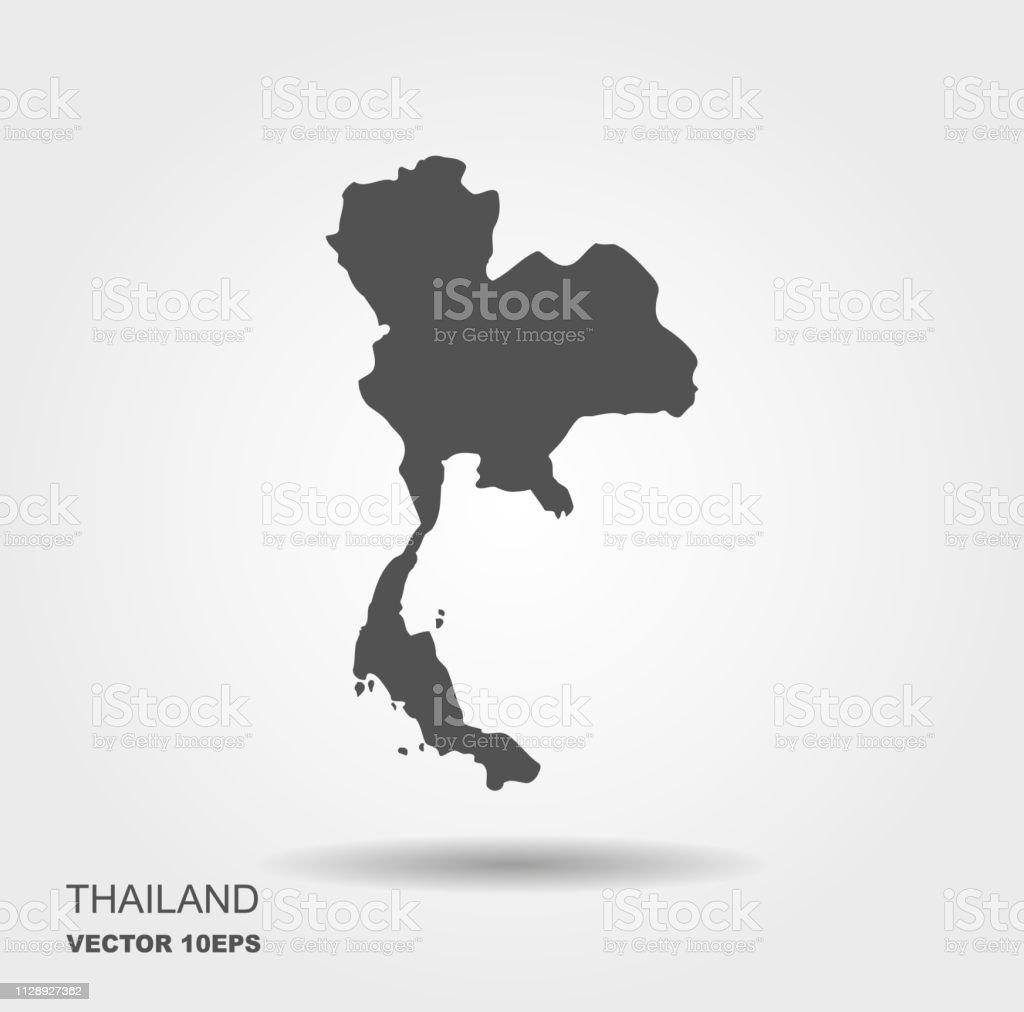 Vector Map Thailand Isolated Vector Illustration Flat Vector ...