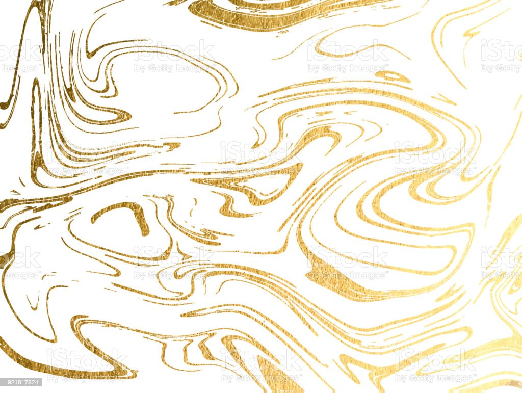 Vector marble gold background.  Marbling Texture design for poster, brochure, invitation, cover book, catalog. Vector illustration. vector art illustration