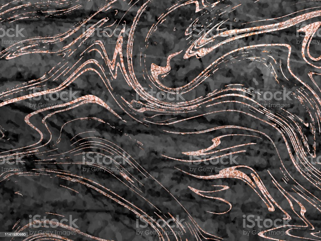 Vector marble rose gold background. Marbling Texture design for...