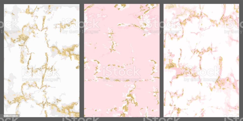 vector marble with pink gold background white rose with golden crack vector id936451808