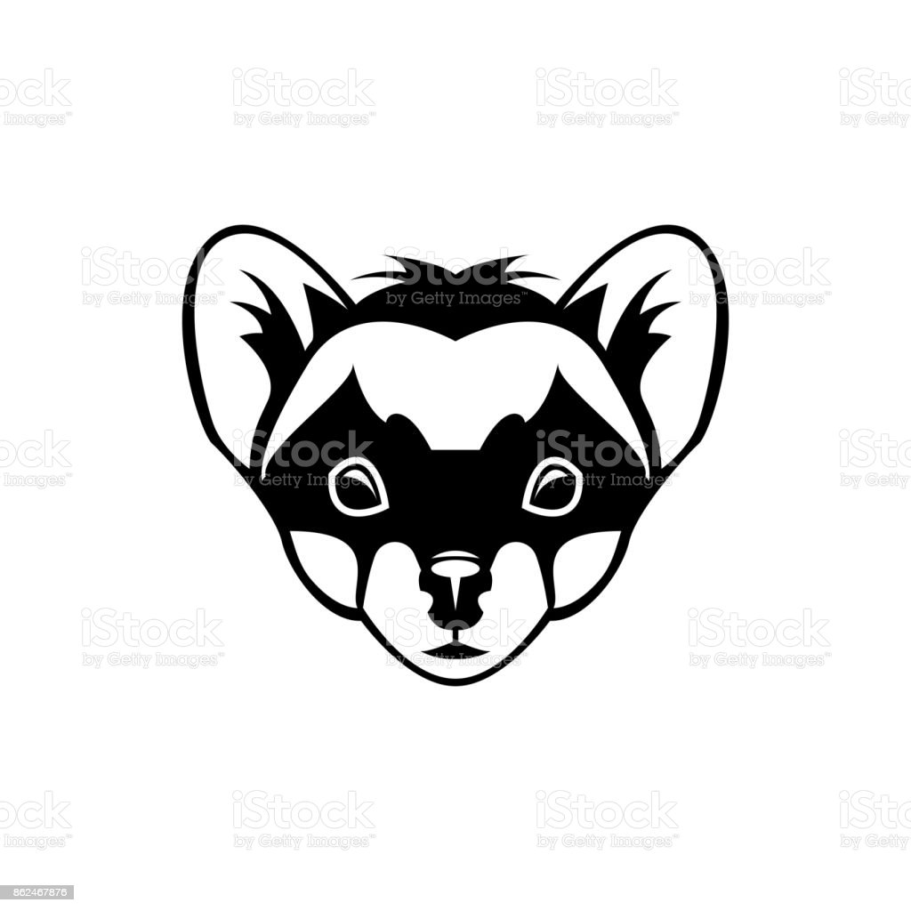 Vector marten head, face  for retro icons, emblems, badges, labels template and t-shirt vintage design element. Isolated on white background Vector marten head, face  for retro icons, emblems, badges, labels template and t-shirt vintage design element. Isolated on white background Abstract stock vector