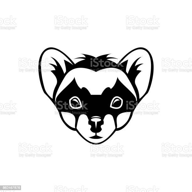 Vector Marten Head Face For Retro Icons Emblems Badges Labels Template And Tshirt Vintage Design Element Isolated On White Background Stock Illustration - Download Image Now