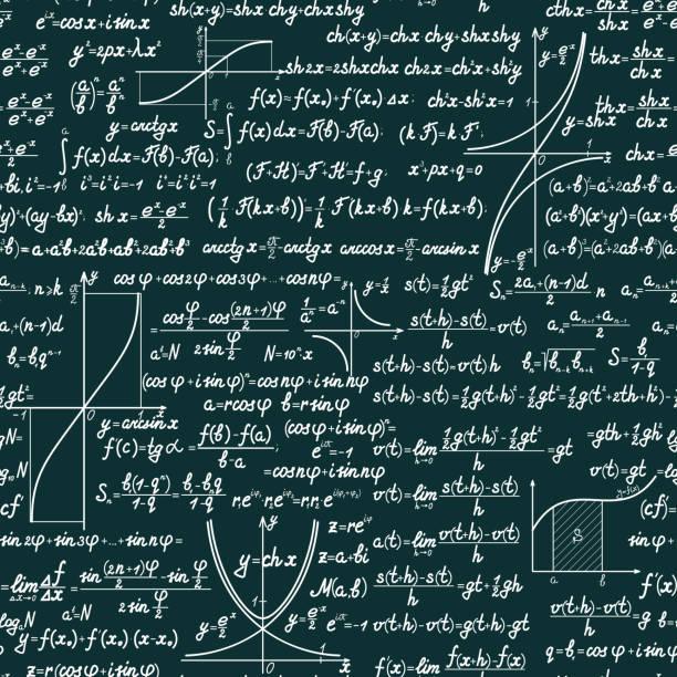 vektor mathematische nahtlose muster - geometriestunde grafiken stock-grafiken, -clipart, -cartoons und -symbole