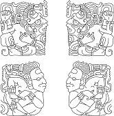 vector maya ornaments