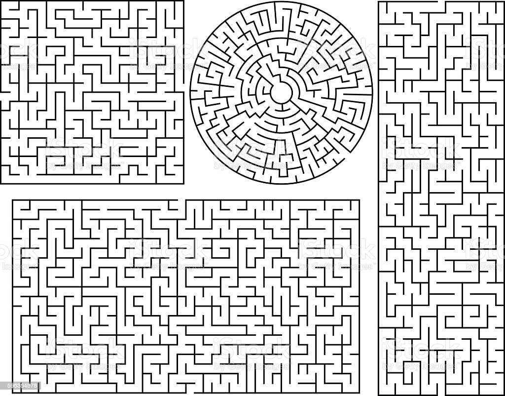Vector Maze templates royalty-free vector maze templates stock vector art & more images of horizontal