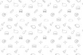 Vector meat pattern. Meat seamless background