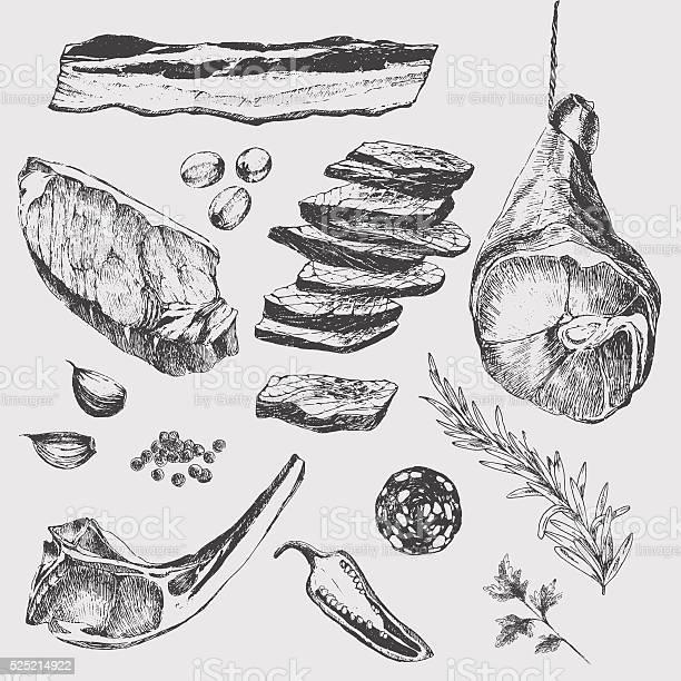 Vector meat steak sketch drawing designer template lamb rib parma vector id525214922?b=1&k=6&m=525214922&s=612x612&h=9 bo9 bozacm2dg814y14uq2ezordghovj93 guqe94=