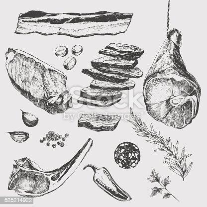 vector meat steak sketch drawing designer template lamb streak clip art steak clipart images