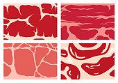 istock Vector meat texture backgrounds 1225403697
