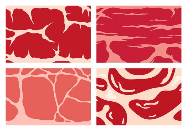 ilustrações de stock, clip art, desenhos animados e ícones de vector meat texture backgrounds - meat texture