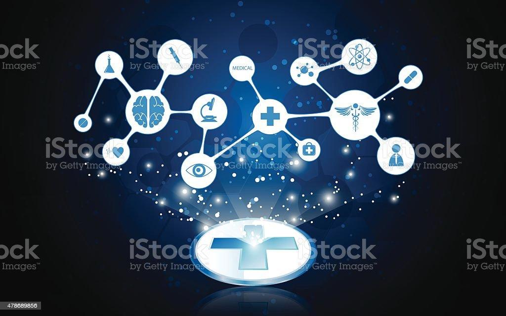 vector medical concept backgroundvectorkunst illustratie