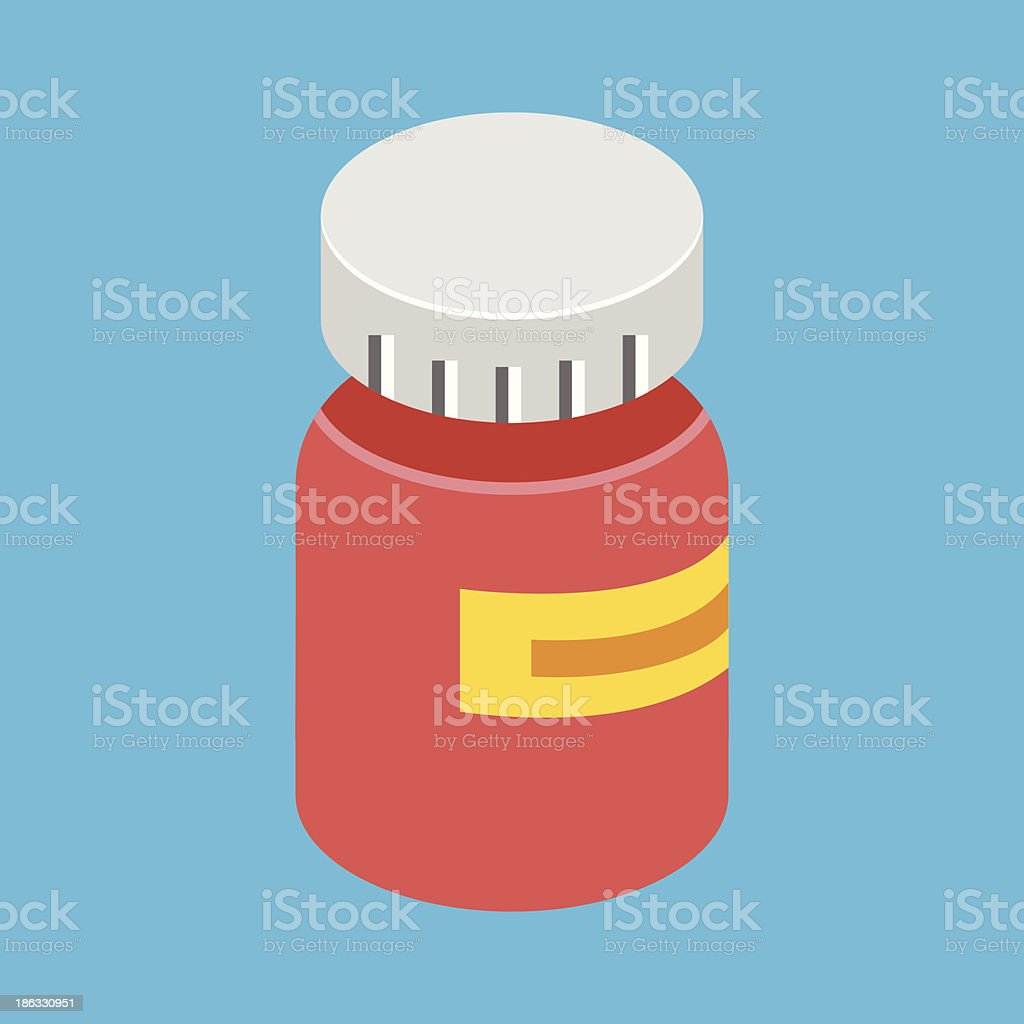 Vector Medical Pill Bottle Icon royalty-free stock vector art