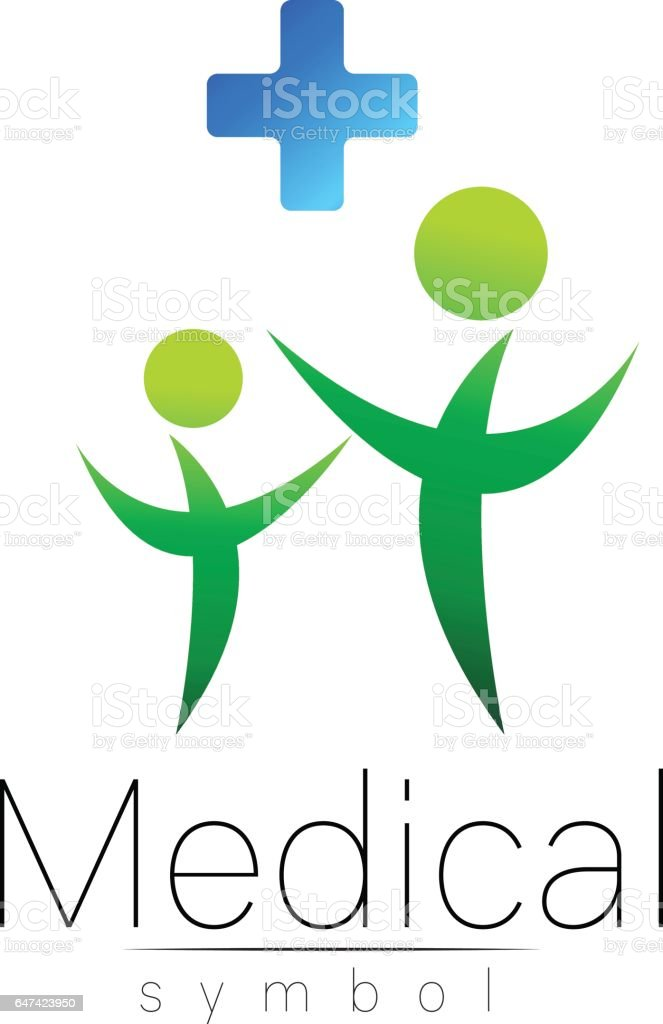 Vector Medical Sign With Cross Family Symbol For Doctors Website Visit Card