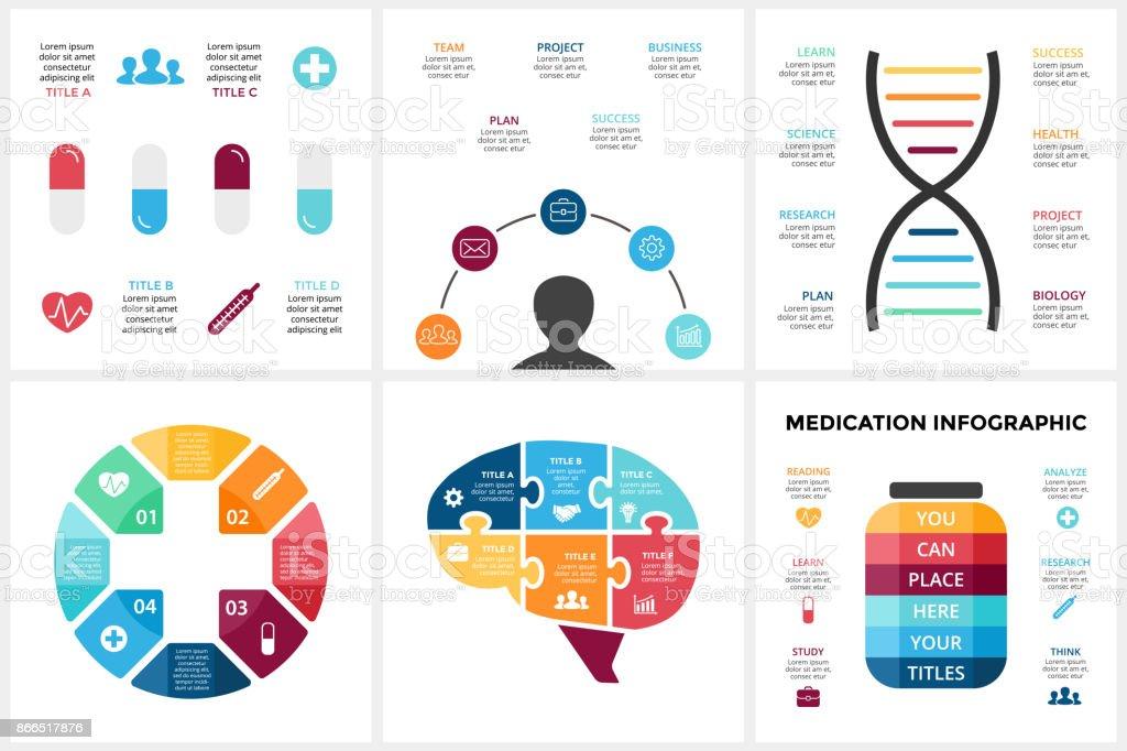 Ilustración de Infografía De Medicina Vector Plantilla De Diagrama ...