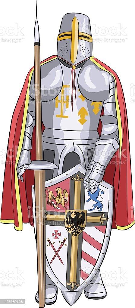 Vector.  Medieval knight. vector art illustration