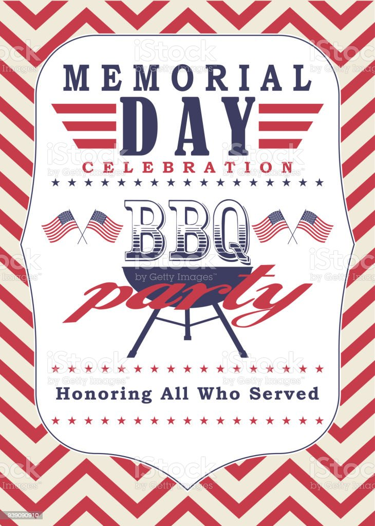 vector memorial day poster template memorial day celebration and bbq