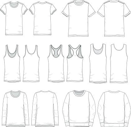 Vector Men and Women tee templates
