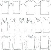 Vector Men and Women tee templates