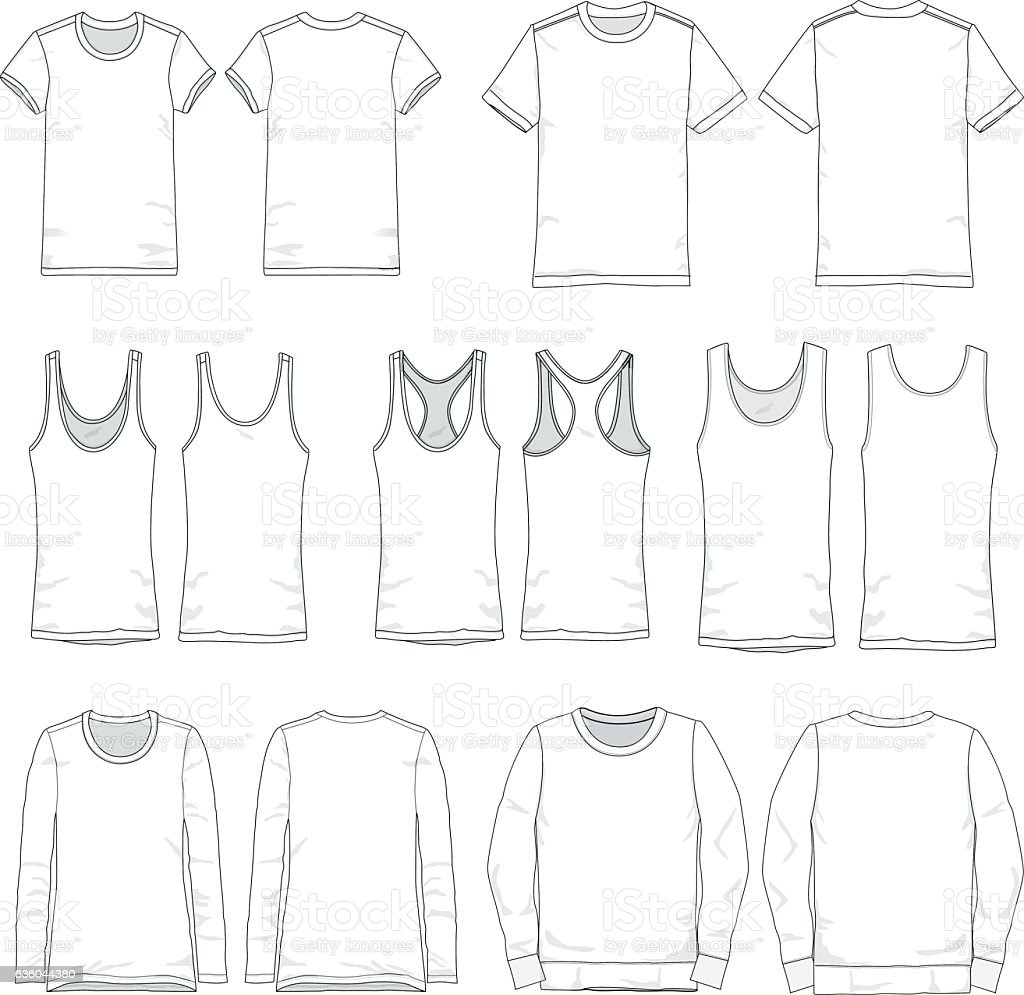 Vector Men and Women tee templates vector art illustration