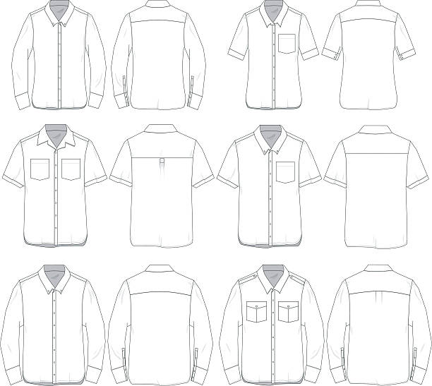 Royalty Free Button Down Shirt Clip Art, Vector Images ...