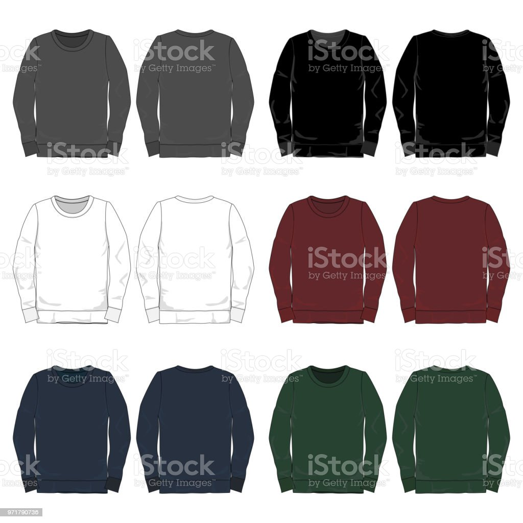 vector mens long sleeved tee template stock vector art more images