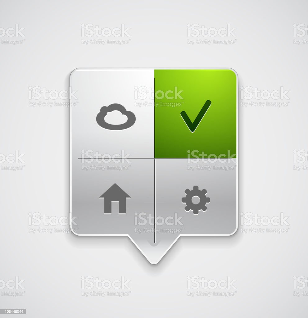 Vector menu pointer royalty-free stock vector art
