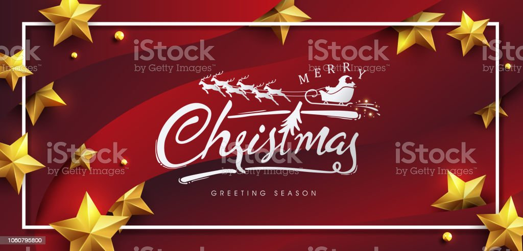 vector merry christmas and happy new year background design calligraphic christmas letteringwinter vector