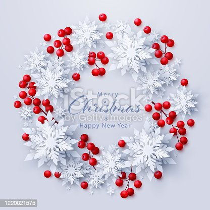istock Vector Merry Christmas and New Year background 1220021575