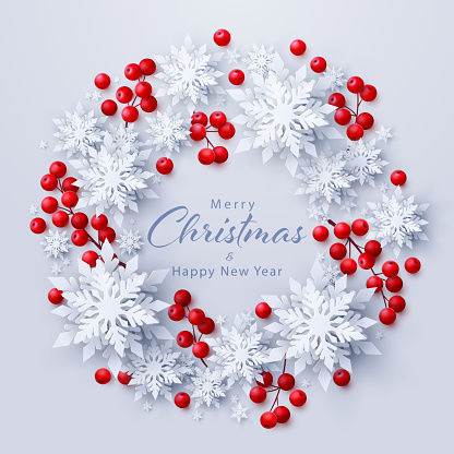 Vector Merry Christmas and New Year background