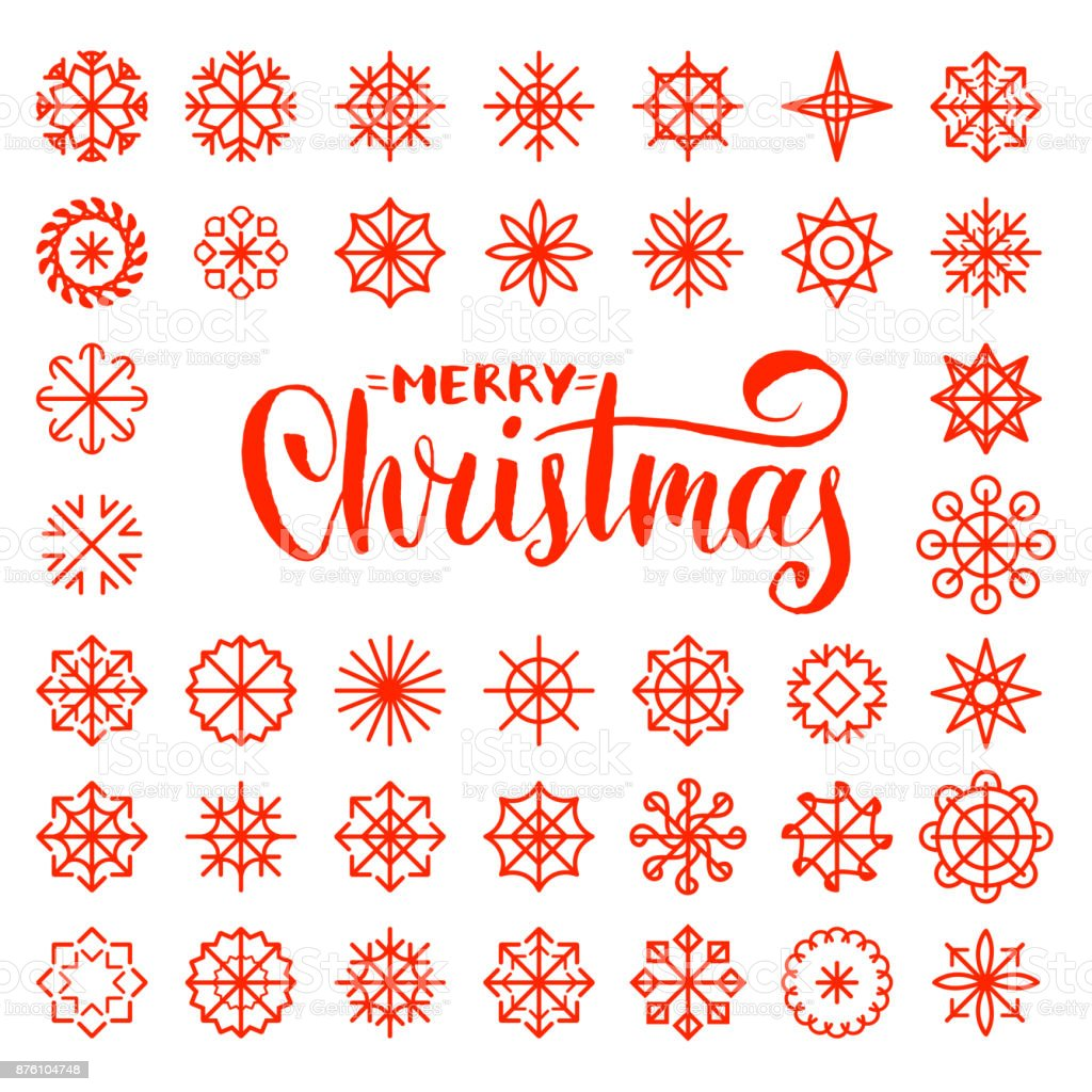 Vector merry christmas lettering design on snowflakes background vector merry christmas lettering design on snowflakes background new year seamless pattern for greeting card kristyandbryce Choice Image