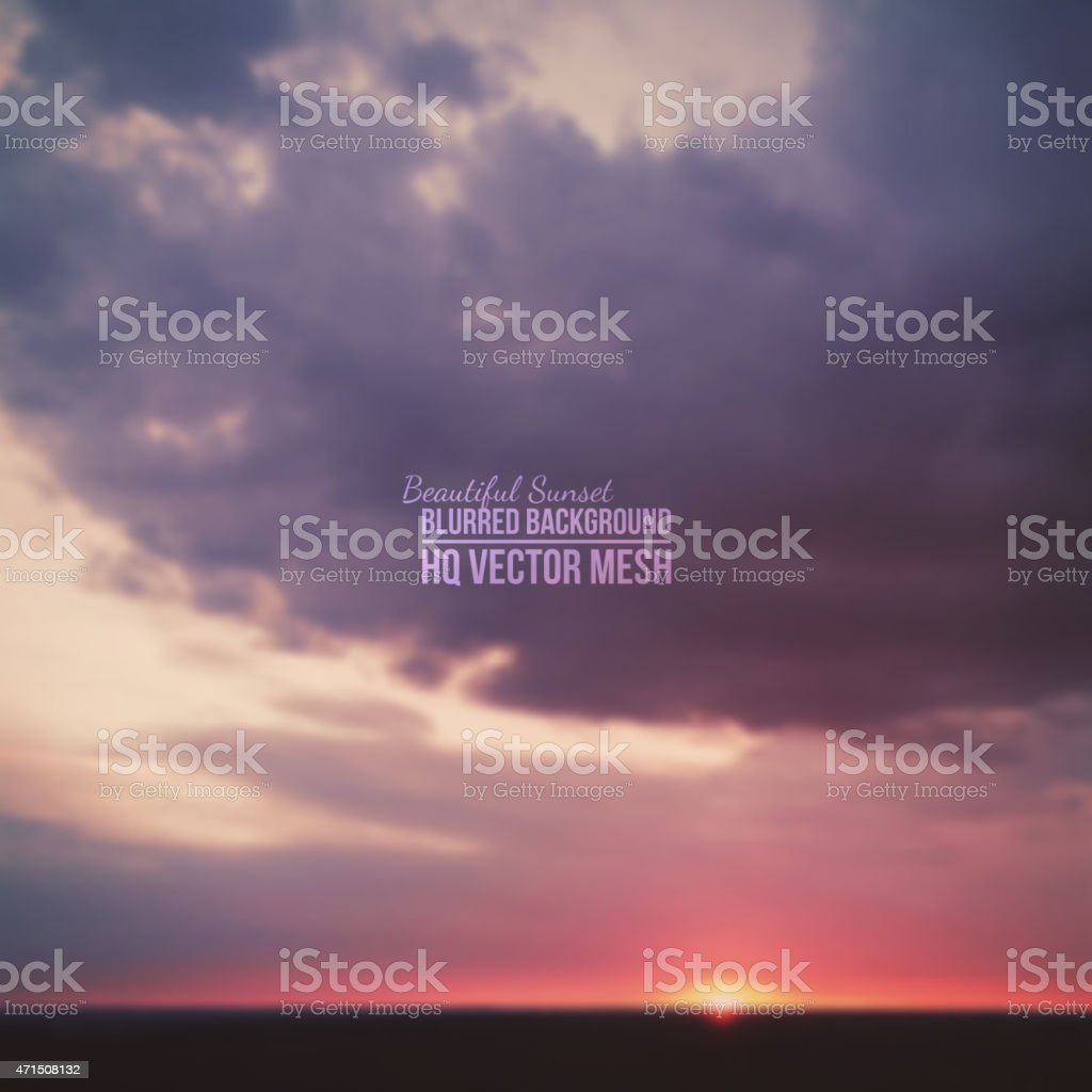 A vector mesh gray cloudy sky at dusk background vector art illustration