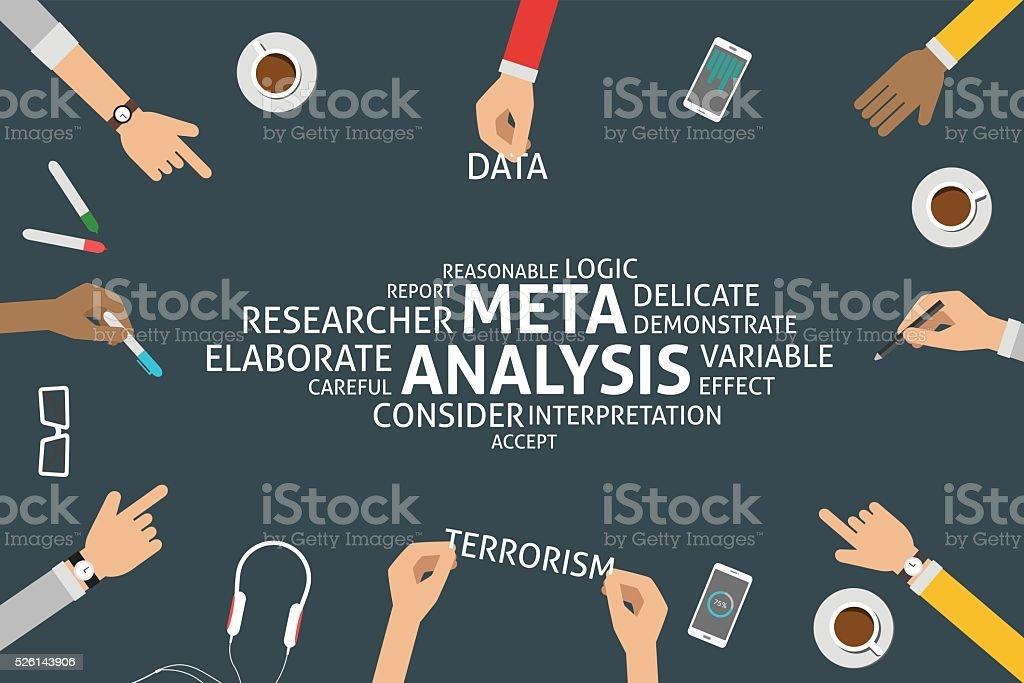 vector meta analysis concepttemplate stock vector art