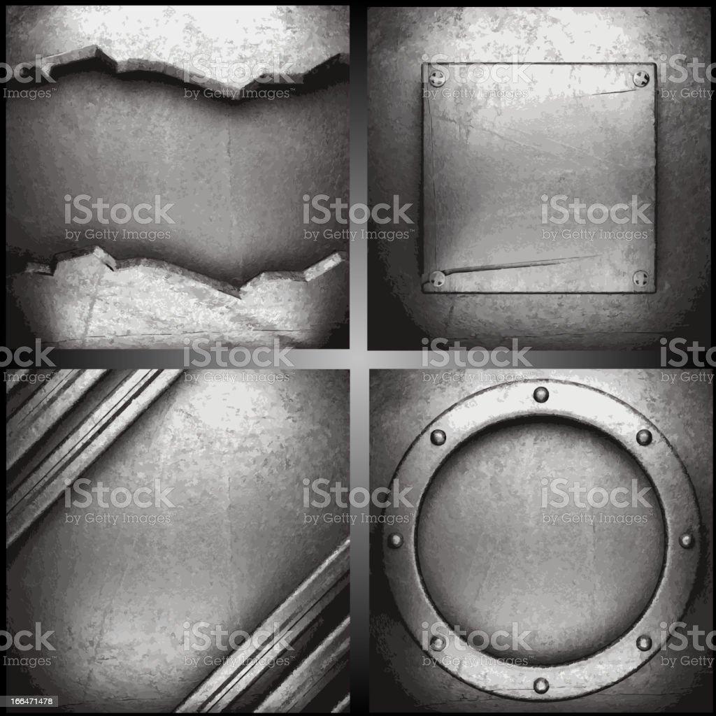 Vector metal background set vector art illustration