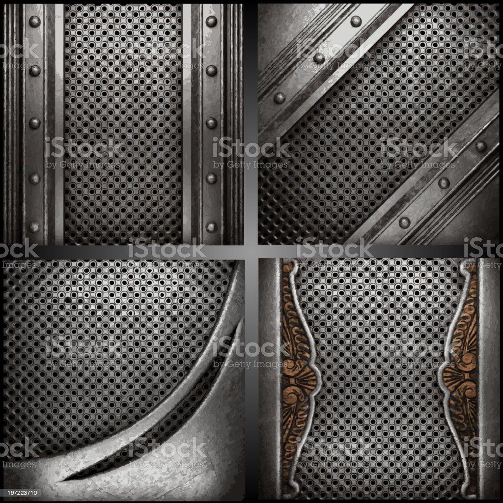 Vector metal background set royalty-free stock vector art