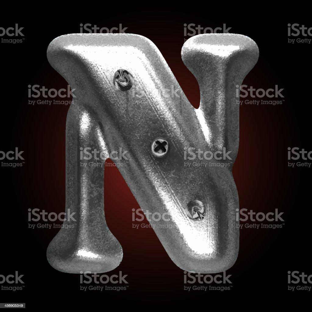 vector metal construction figure n royalty-free stock vector art