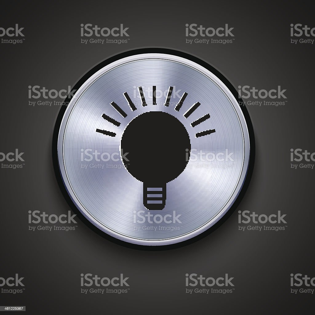 Vector metal  icon. Eps10 royalty-free stock vector art