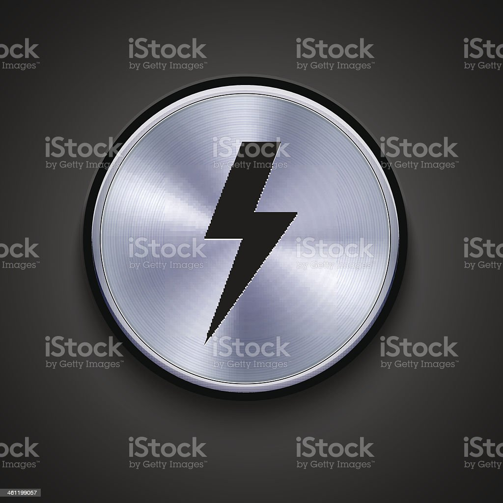 vector metal icon on gray background. Eps10 vector art illustration