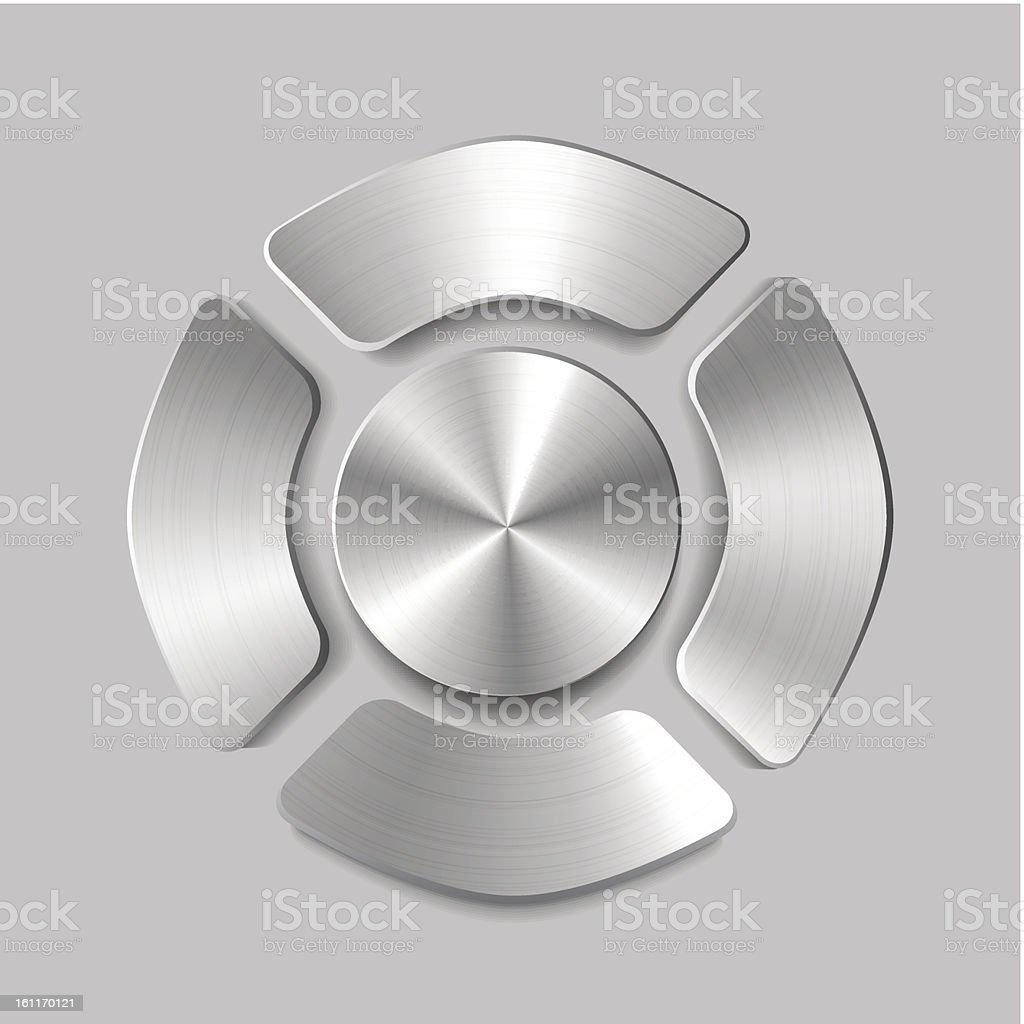 Vector metal joystick buttons royalty-free vector metal joystick buttons stock vector art & more images of arrow symbol