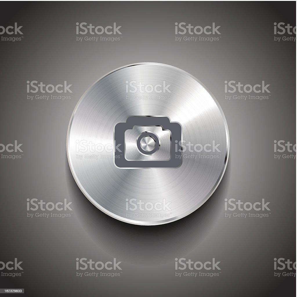 Vector metal photo button royalty-free stock vector art