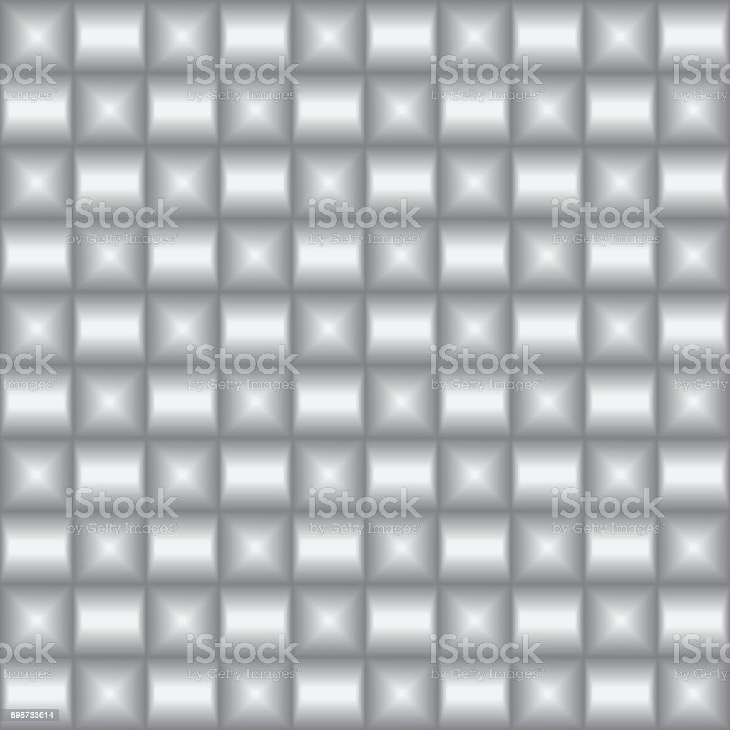 seamless metal wall texture. Vector Metal Texture. Silver Abstract Background. Brick Wall Seamless Pattern. Royalty- Texture