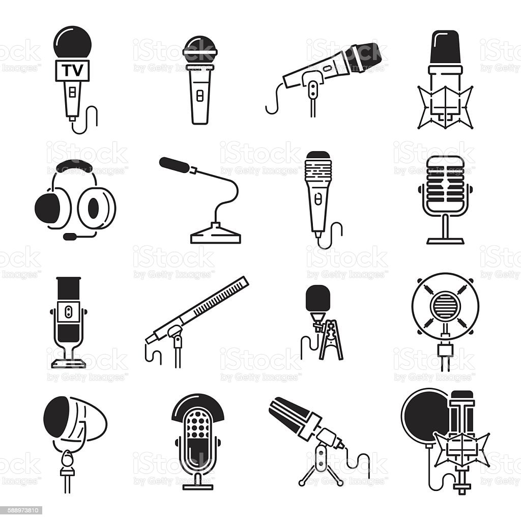 royalty free condenser microphone clip art  vector images