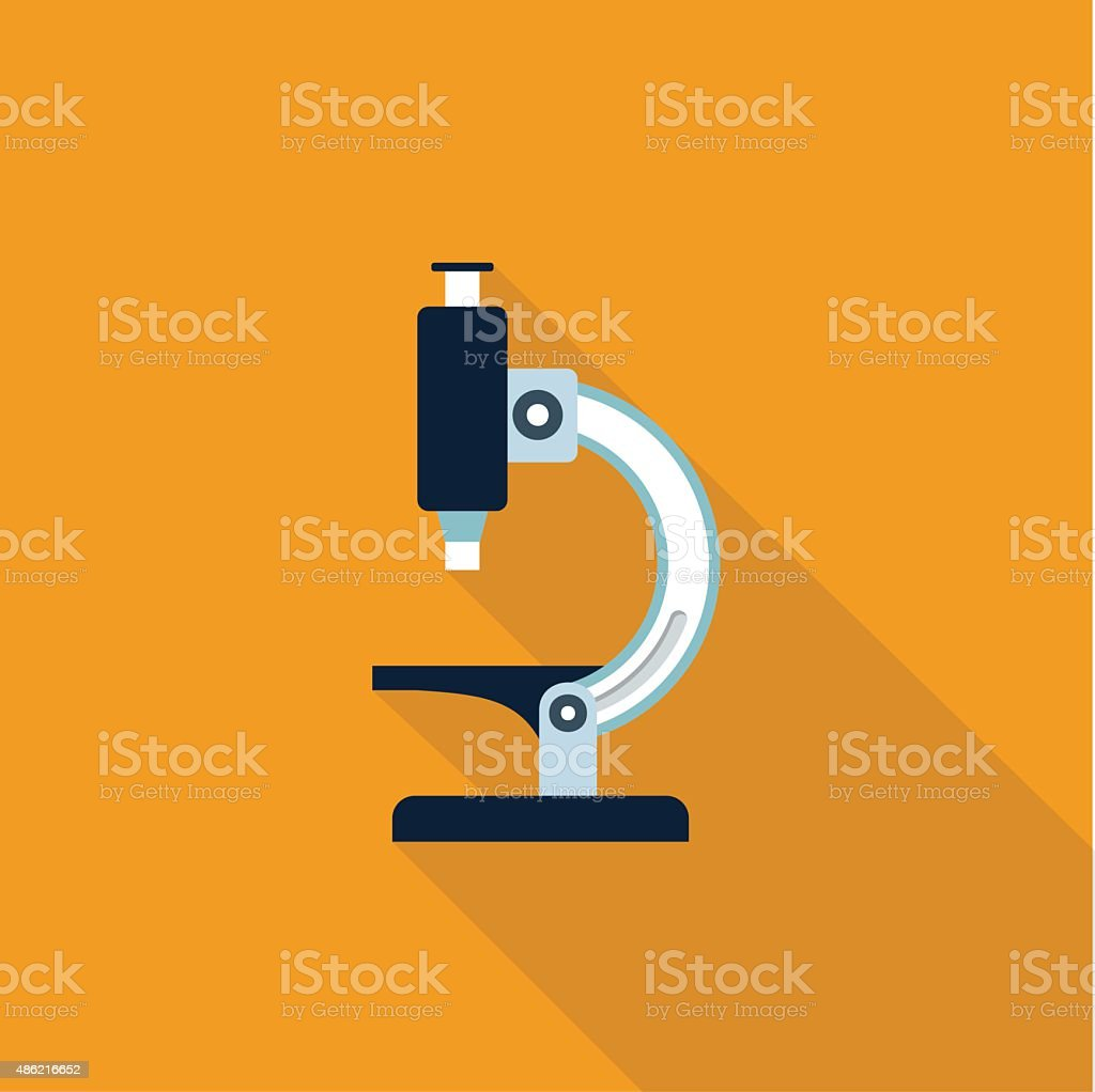 Vector Microscope icon vector art illustration