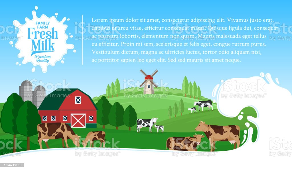 Vector milk illustration vector art illustration