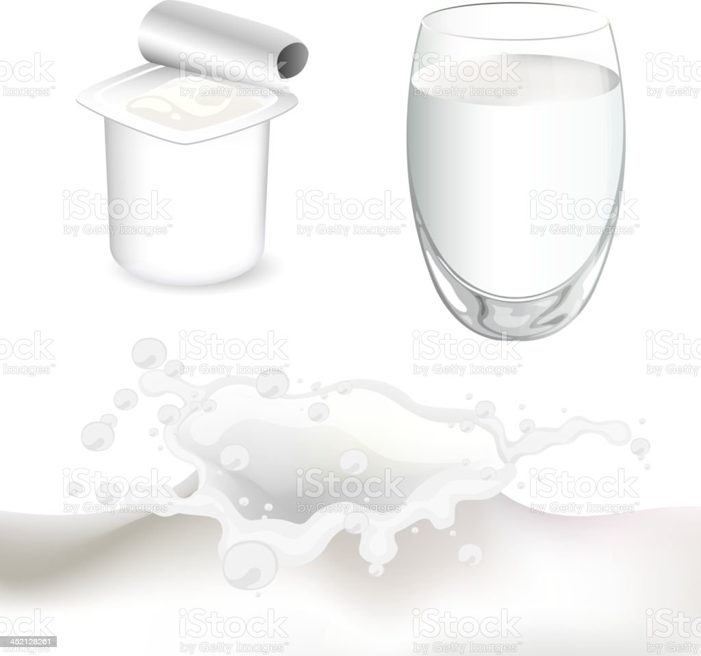 Vector Milk Products royalty-free stock vector art