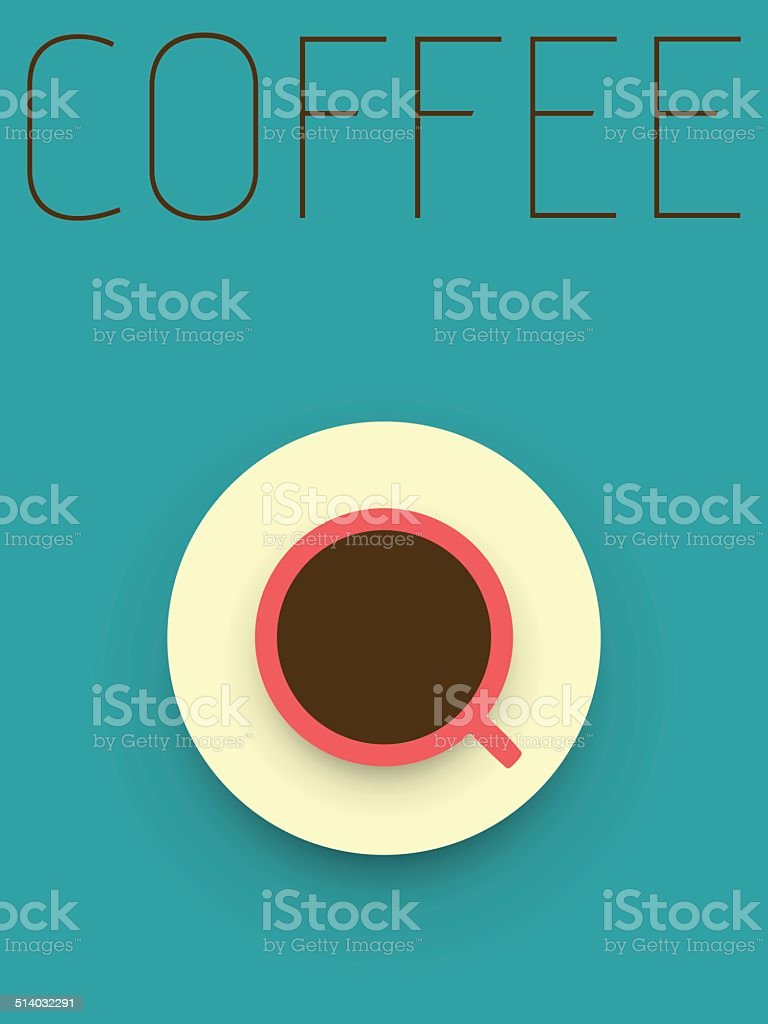 Vector Minimal Design - Coffee vector art illustration