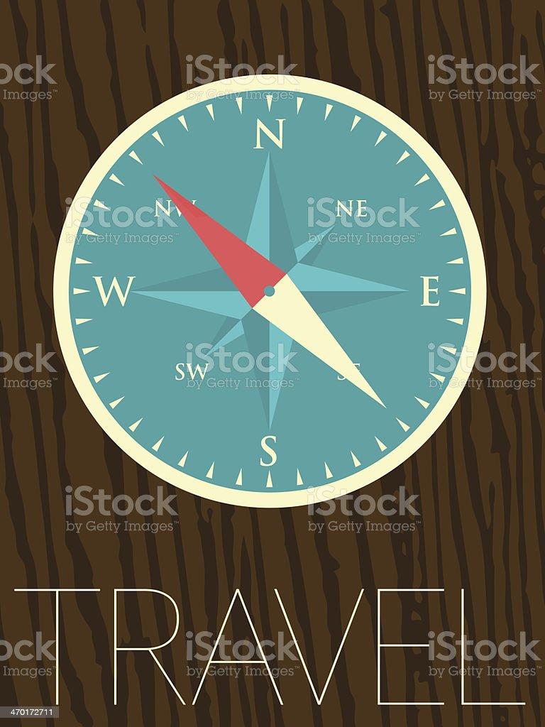 Vector Minimal Design - Compass royalty-free vector minimal design compass stock vector art & more images of abstract